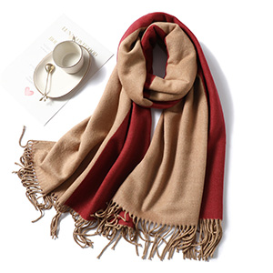 Double sided winter scarf wholesale