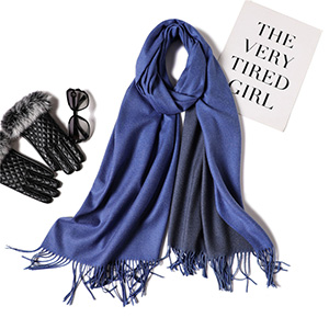 Pure color solid color double sided scarf