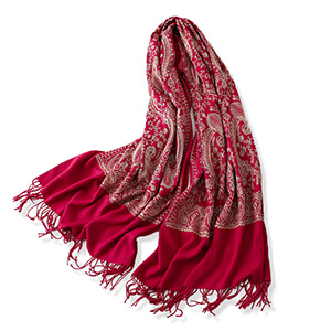Cashmere shawl embroidered temperament scarf