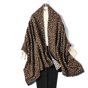Leopard Print Thick Cashmere Scarf