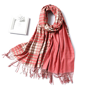 Pure color double side warm scarf wholesale