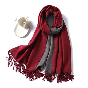 Winter thick solid color cashmere scarf