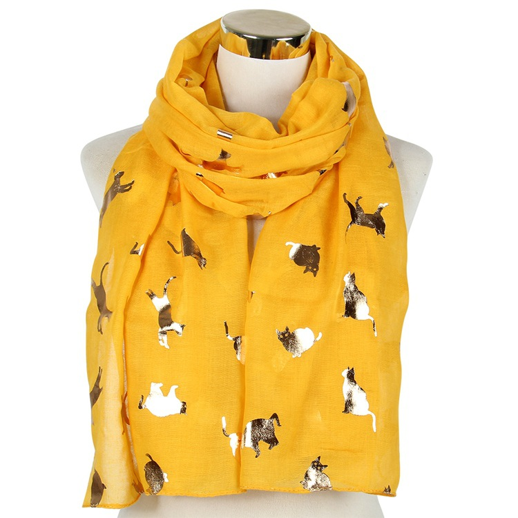 Cat bronzing scarf animal scarf shawl wholesale