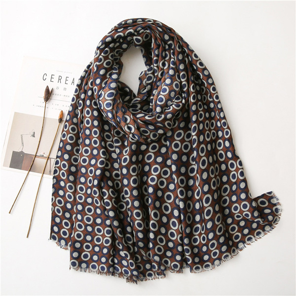 2021 new cotton scarf polka dot scarf Cheap