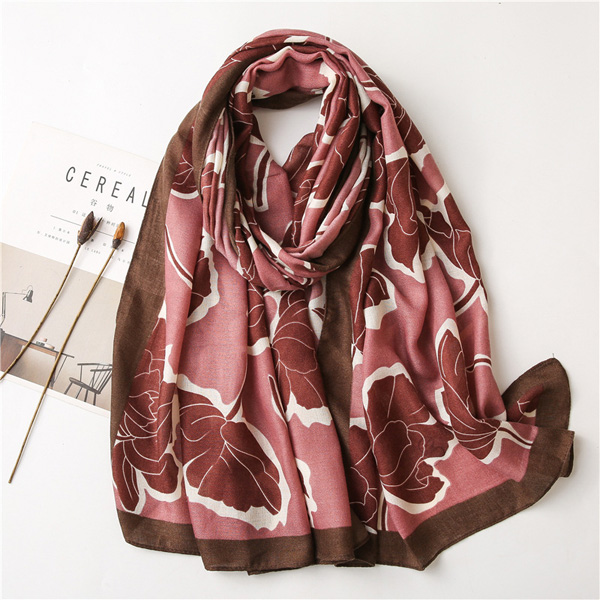 Wholesale Cotton linen scarf women fashion printing long shawl