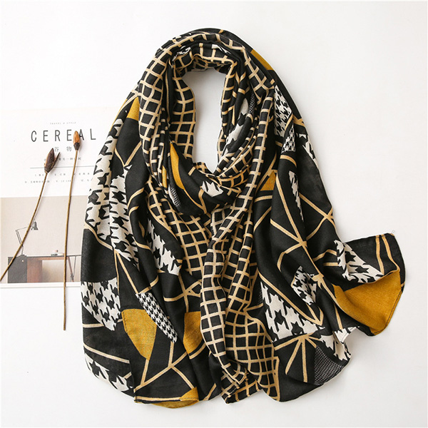 China Scarves Wholesale Cotton Houndstooth Women scarf