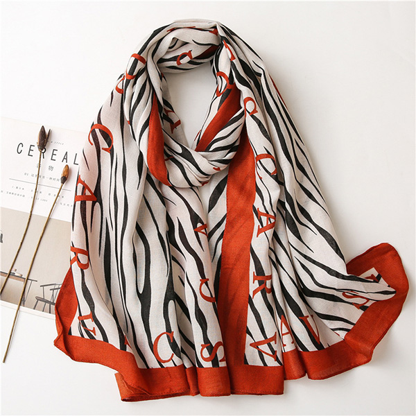 Wholesale Cotton Scarves Stripe Cotton Linen Women scarf China
