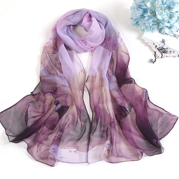 Lotus silk scarf beach towel wholesale women Indian