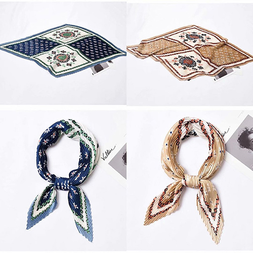 Wholesale pleated office silk scarf uk