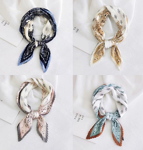 Wholesale pleated bag silk scarf Australia
