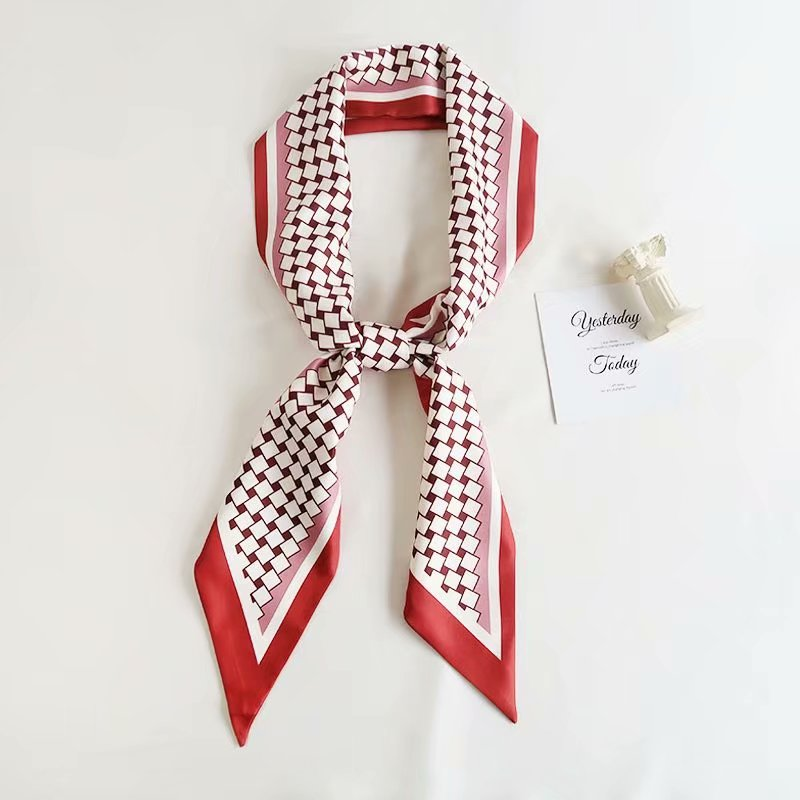Woman Head Hair silk Tie Scarf