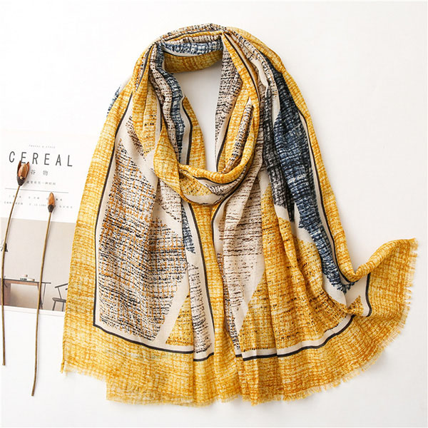 Cotton linen scarf sunscreen air conditioning shawl women tie-dye scarf