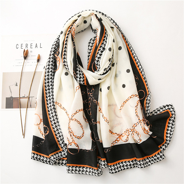 Wholesale Printed chain scarf women spring shawl fashion scarves
