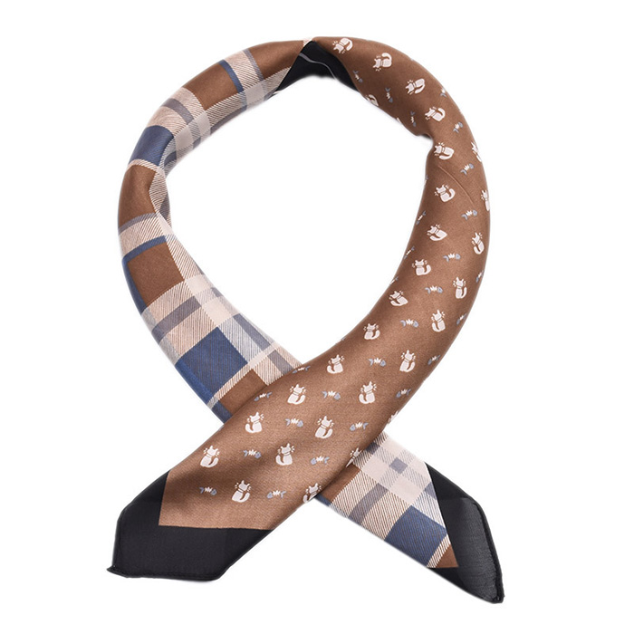 wholesale 70cm striped plaid stitching tie China silk scarf
