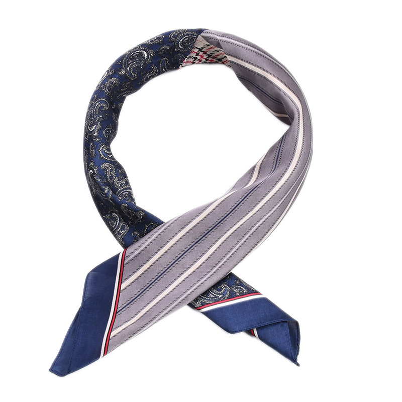 Wholesale cashew print silk 70cm square scarf satin silk scarf