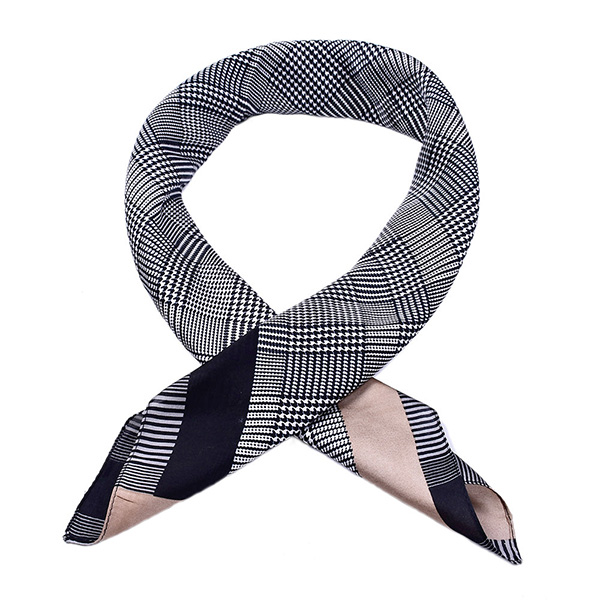 Wholesale Houndstooth 70cm Square Scarf Women Silk Scarf