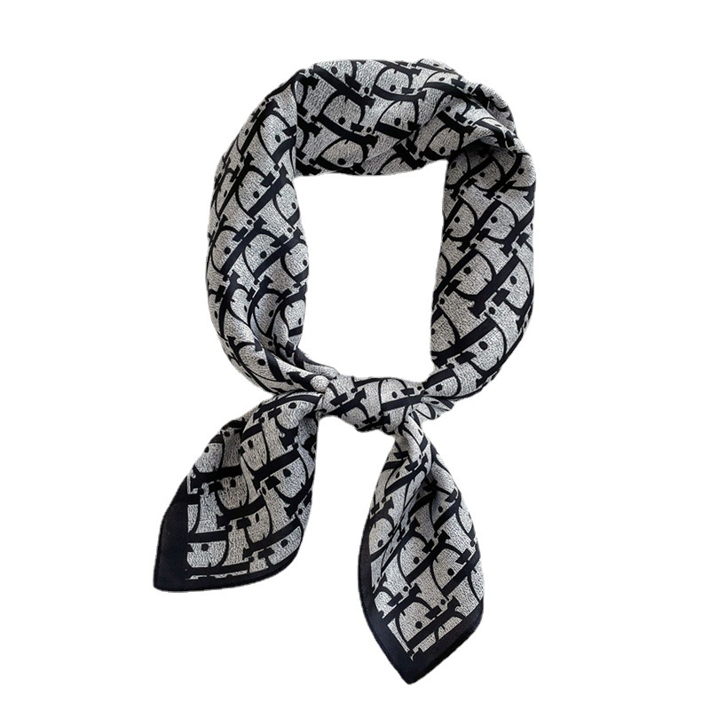 Wholesale Letter silk scarf ladies silk scarf stewardess scarf tied bag scarf
