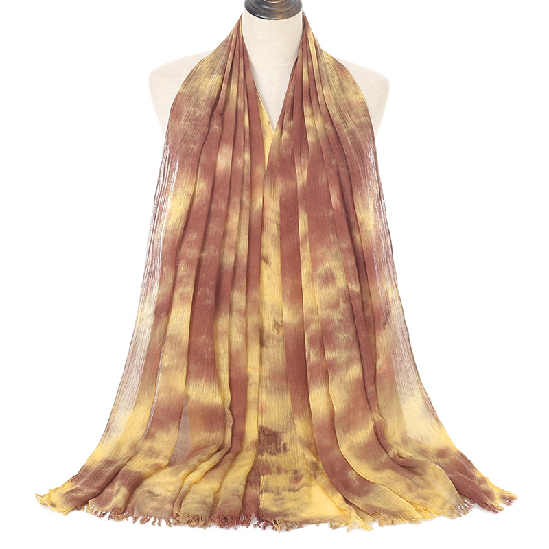 Wholesale tie dye scarf uk women pure color cotton scarf factory