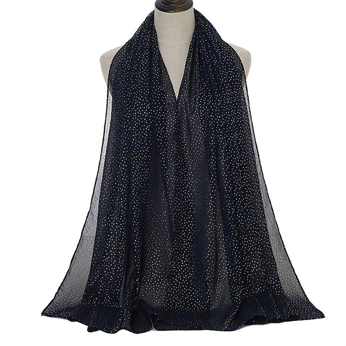 wholesale scarves and accessories bronzing pearl chiffon small dots ladies scarf