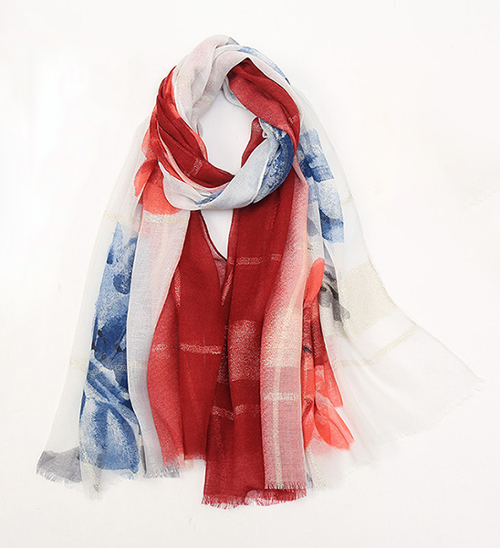 cheap scarves bulk popular gold thread long scarf wholesale