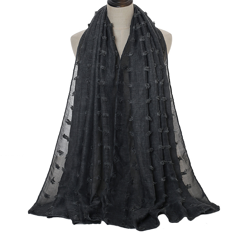 Cotton flocking check alexander mcqueen scarf 180cm