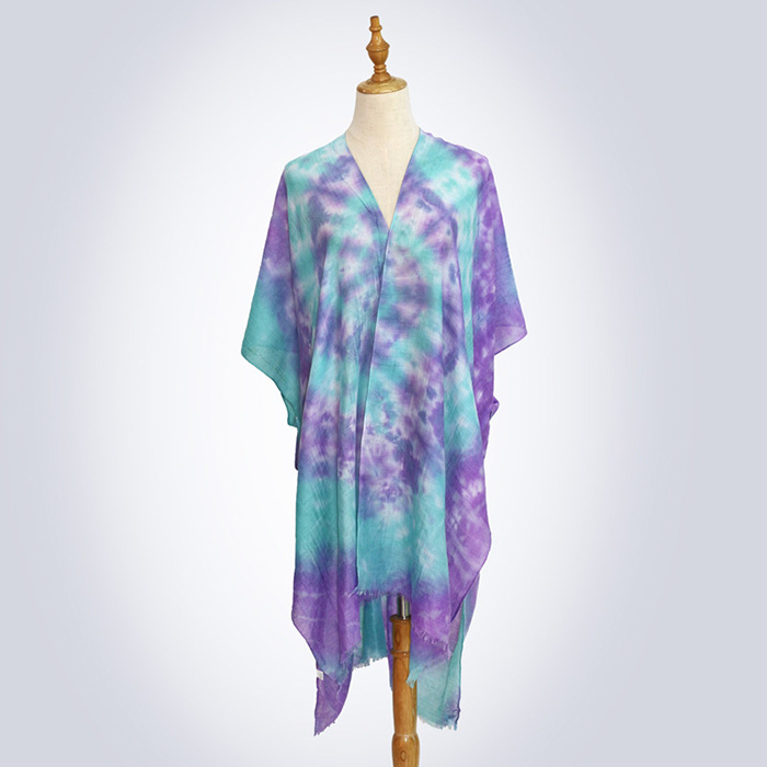 Women tie dye scarf ethnic style big shawl factory supply