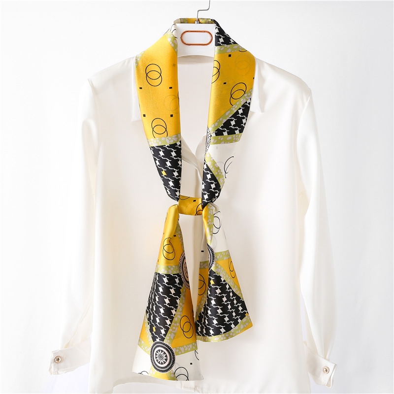 Star silk scarf women thin scarves Korean necktie wholesale