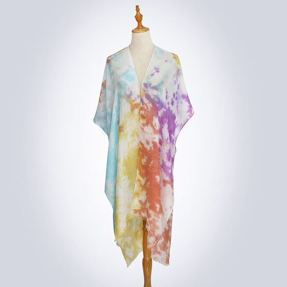Women tie dye scarf sunscreen cotton shawl factory online sale