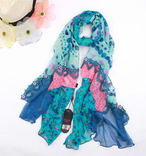 China Fashion patchwork shawls scarf