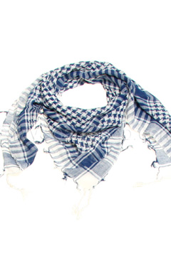 Blue & White Cotton Arab Scarf