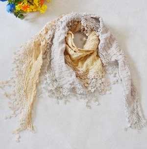 German cotton lace scarves