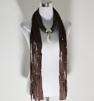 scarves with jewellery