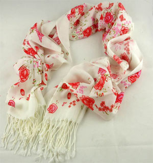 Spain Cashmere Floral Scarf