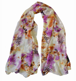 Silk chiffon scarf wholesale