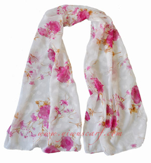 Silk chiffon scarf china