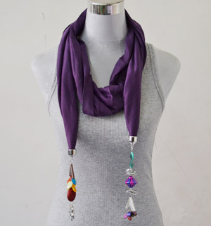Scarves with jewelry attached wholesale