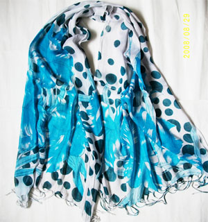 Singapore cotton scarves