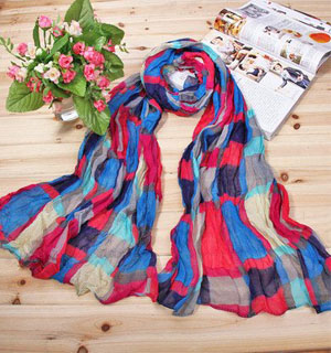 Red scarves for women