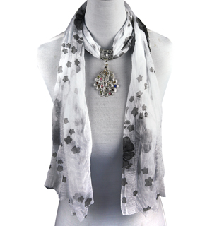 fashion scarf jewellery