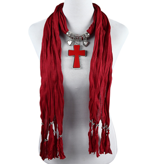 pendant jewelry scarves