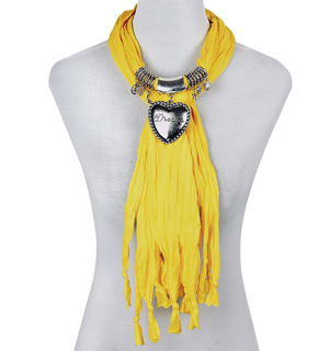 scarf necklace with pendant china