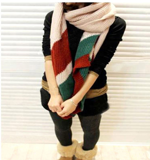 Knitting wool scarf lovers scarf