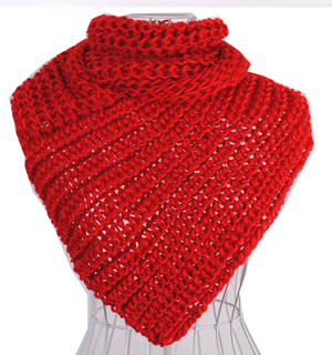 Winter knitting scarf