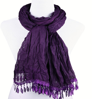 USA hot sell scarves lace scarves