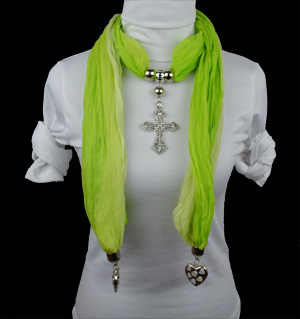Cross jewelry scarves