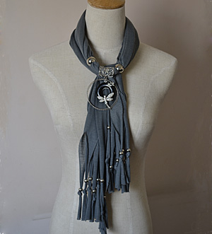 alloy jewelry beads pendant scarf necklace