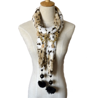 Leopard jewelry scarves