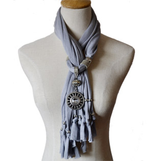 Fashion Pendant Jewelry Scarf Necklace