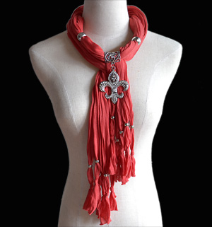 Sea rudder pendant jewelry scarf