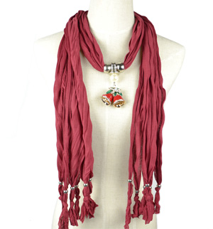 Christmas Scarf Jewelry